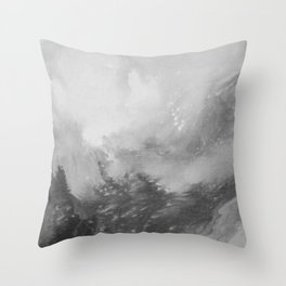 Mountain Views b/w Throw Pillow