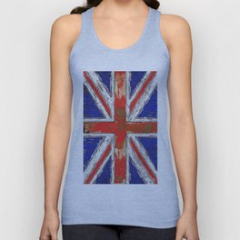 UK Vintage Wood Unisex Tank Top