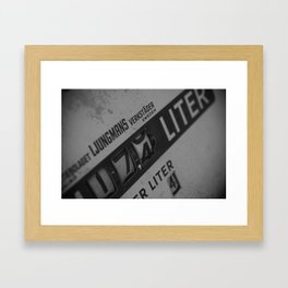 Gas station Framed Art Print