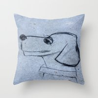 georgia Throw Pillows featuring georgia by Art By Anne Manera