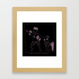 The Origins of Little Party Bros Framed Art Print