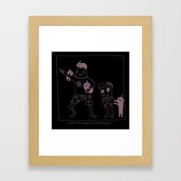 The Origins of Little Party Bros Framed Art Print