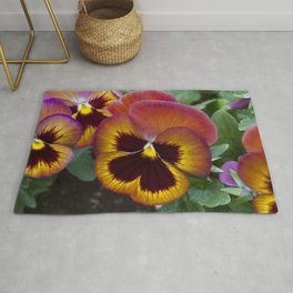Pansy Painted Rug