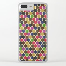 Colorful Seamless Hexagon Geometric Pattern Clear iPhone Case