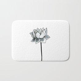 Grey Lotus Bath Mat