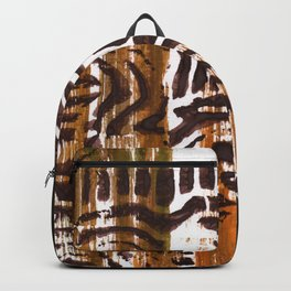 Brown abstract Backpack