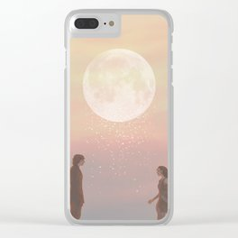 Don't leave like the rain Clear iPhone Case