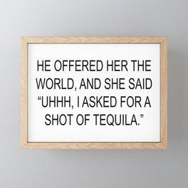 Tequila Framed Mini Art Print