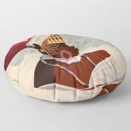 South Africa, Qantas - Vintage  Poster Floor Pillow