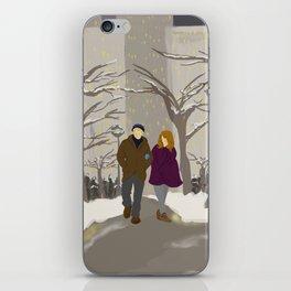 Snowy Stroll iPhone Skin