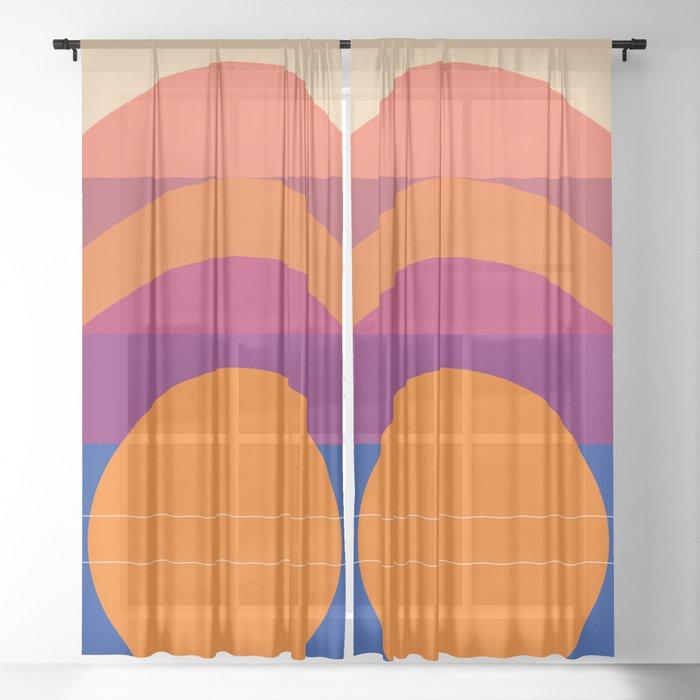 Spring- Pantone Warm color 06 Sheer Curtain