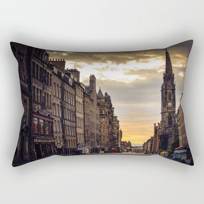 Royal Mile Sunrise in Edinburgh, Scotland Rectangular Pillow