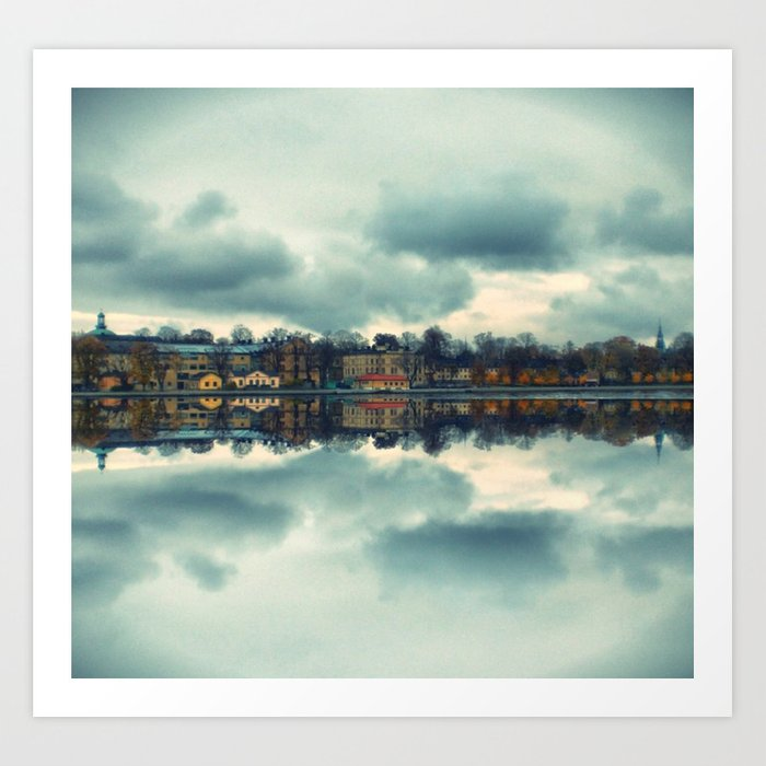 Stockholm upside-down Art Print