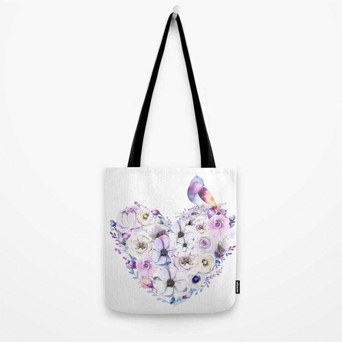 Heart Bouquet flowers #2 Tote Bag