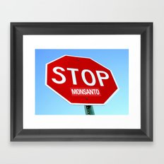 STOP MONSANTO Framed Art Print