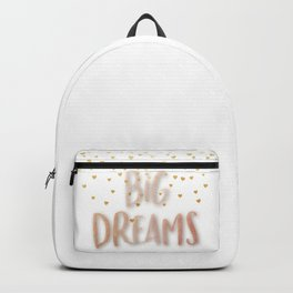 Golden Big dreams Backpack
