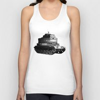 kafka Tank Tops featuring Kafka Tank by drblind