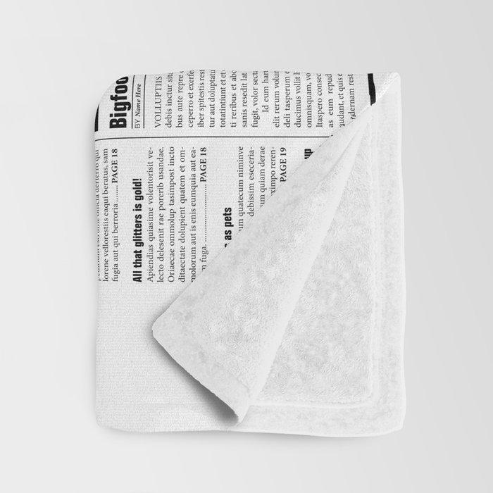 The Fake News Vol. 1, No. 1 Throw Blanket