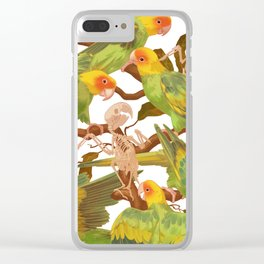 The extinction of the Carolina Parakeet. Clear iPhone Case