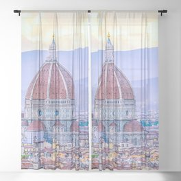 Cathedral of Santa Maria del Fiore  Florence Italy Sheer Curtain