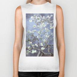 Vincent Van Gogh Almond Blossoms : Steel Blue & Gray Biker Tank