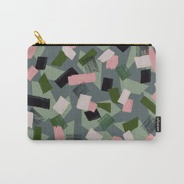 Geo Brush Green Carry-All Pouch