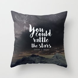 You could rattle the stars (stag included) Throw Pillow