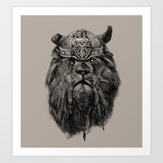 The eye of the Lion Vi/king Art Print