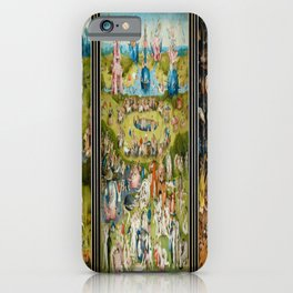 Hieronymus Bosch's The Garden of Earthly Delights iPhone Case