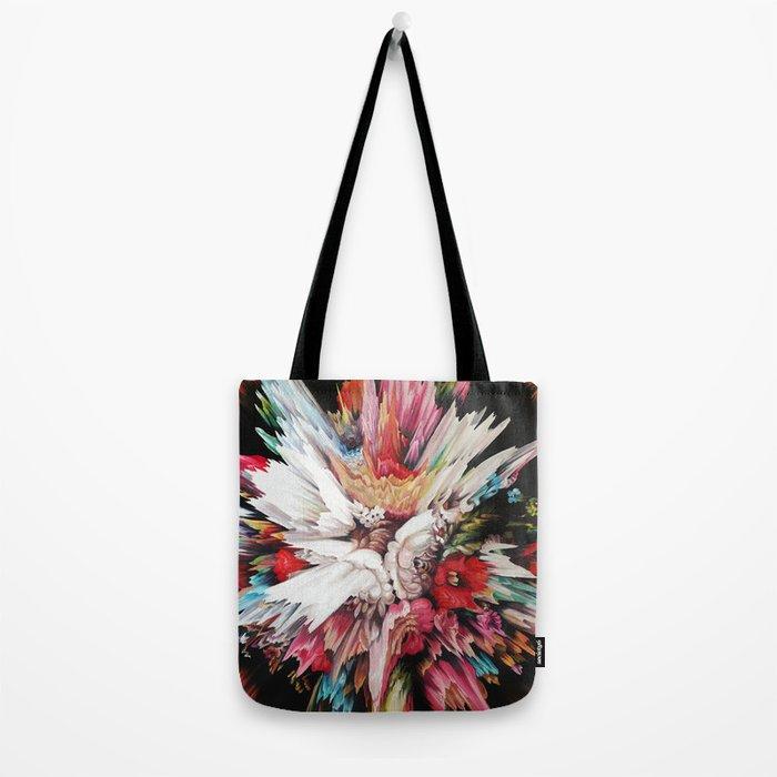 Floral Glitch II Tote Bag