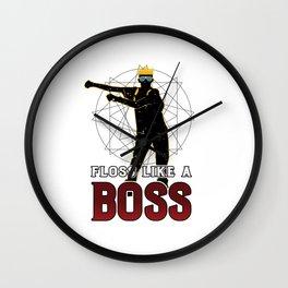 Floss Like A Boss Wall Clock