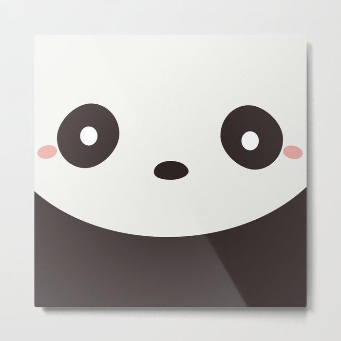 Kawaii Cute Panda Bear Metal Print