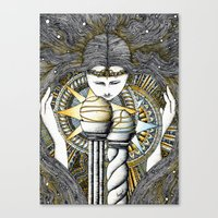 valar morghulis Canvas Prints featuring Lady of light by Anca Chelaru