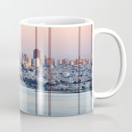SAN FRANCISCO & GOLDEN GATE BRIDGE AT SUNSET Coffee Mug