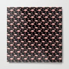 Flamingo Pattern Pink Bird Tropical Animal Lover  Metal Print