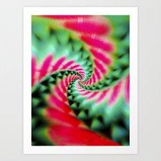 Cosmic Watermelon Swirl Art Print