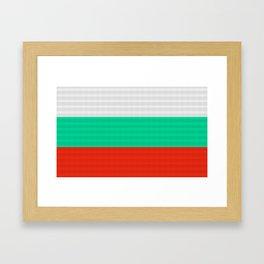 Bulgaria Flag (Patchwork Look) Framed Art Print