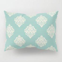 Robin Egg Blue Damask Pattern Pillow Sham