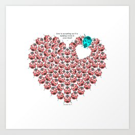 Open Your Heart  3 Art Print