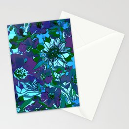 floral melodie in purple Stationery Cards