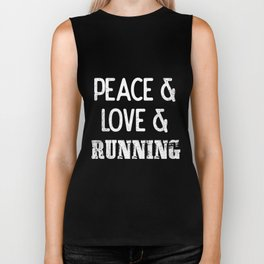 Peace Love Running | Runner Gift Outdoor Sports Biker Tank