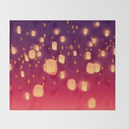 Floating Lanterns Throw Blanket