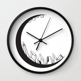 Crystal Moon - Black Wall Clock