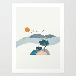 Minimalist Landscape Art II Art Print