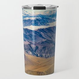 Andes Mountains Aerial View, Chile Travel Mug