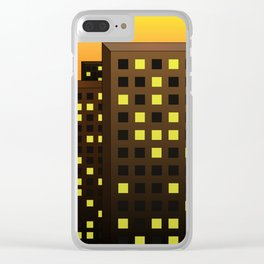 Urban Buildings Clear iPhone Case