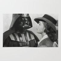 casablanca Area & Throw Rugs featuring Darth Vader in Casablanca by Luigi Tarini