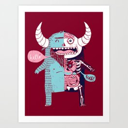 All Monsters are the Same Art Print