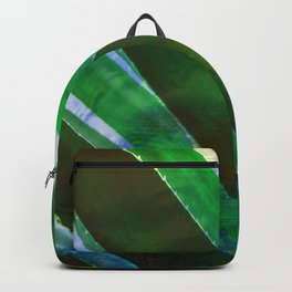 Tropical Ocean Summer Leaves Pattern Green Blue Backpack