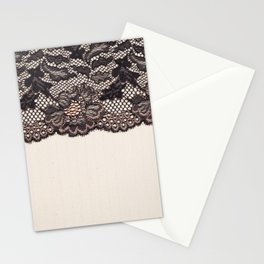 Fabric textile texture and lace for background Stationery Cards